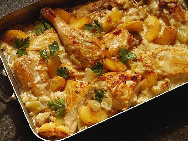 صينية دجاج بالبطاطس بالفرن| مطبخ سيدتي