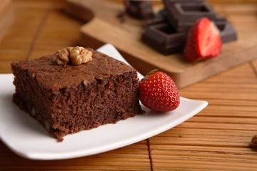 طريقة عمل كيكة البراونيز الشهية  Brownies