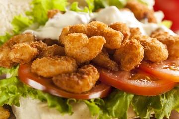طريقة عمل  سندوتش جمبري مقلي اللذيذ  Shrimp-sandwich