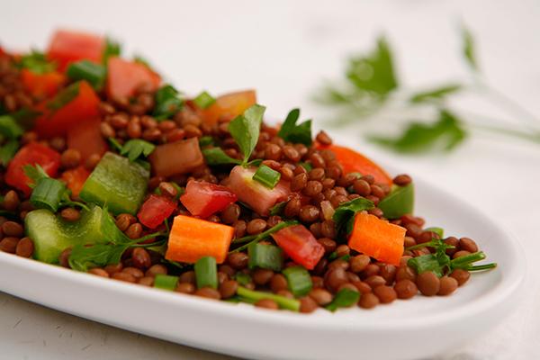 عمل سلطة العدس للرجيم  Lentil-Salad