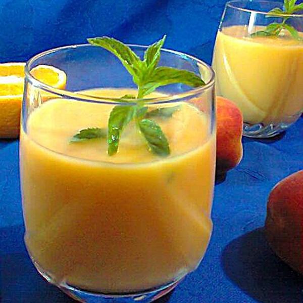 سموثى الخوخ و البرتقال السهل