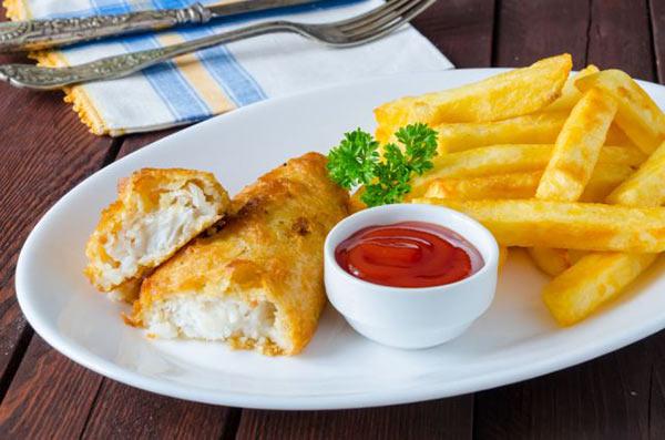 اسرع وصفة سمك وبطاطس بالفرن للرجيم Fish_and_chips