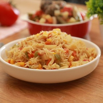 أرز بالخضار للنباتيين بالفيديو