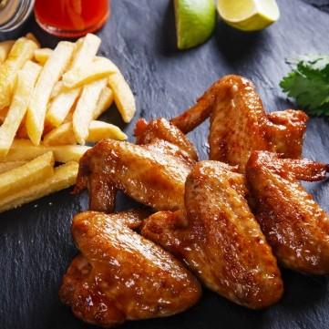 أجنحة الدجاج المشوية مع خل البلسمك