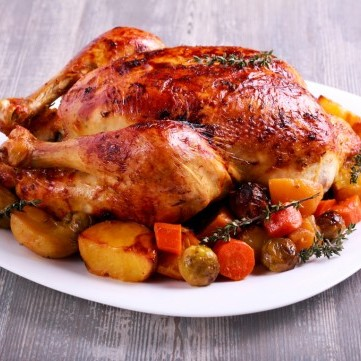 دجاج مشوي بالخضار للرجيم