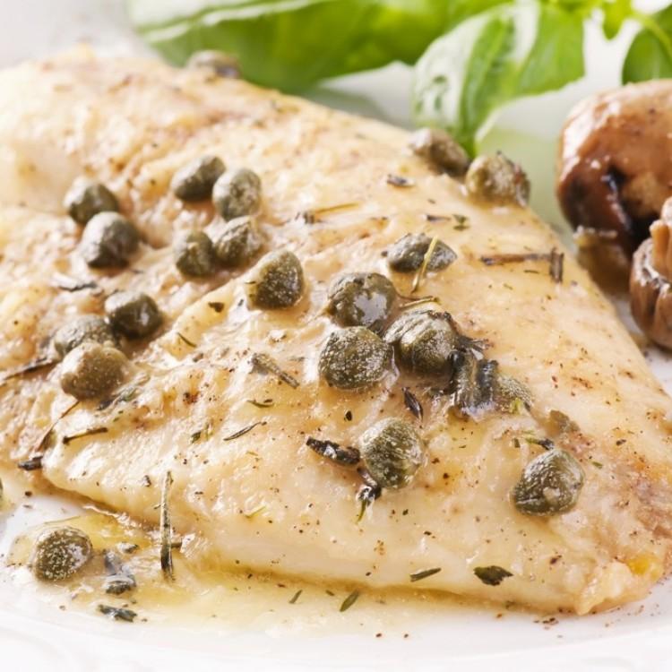 بيكاتا السمك مع الفطر للرجيم