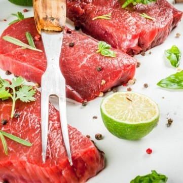 تتبيلة اللحم بالليمون والثوم