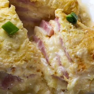 أومليت بالتيركي والجبن للفطور