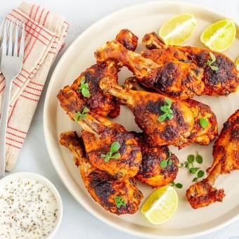 أفخاذ الدجاج بالليمون وجوز الهند دايت