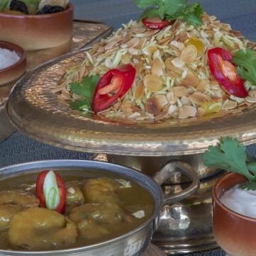 أرز بالروبيان على الطريقة الآسيوية