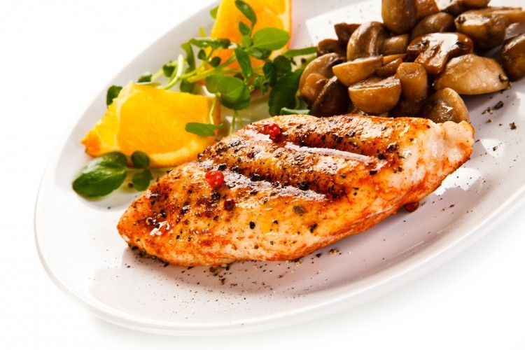 دجاج مشوي بالفرن مع الفطر والتتبيلة المميزة