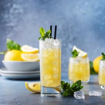 عصير الليمون بالنعناع والزنجبيل البارد
