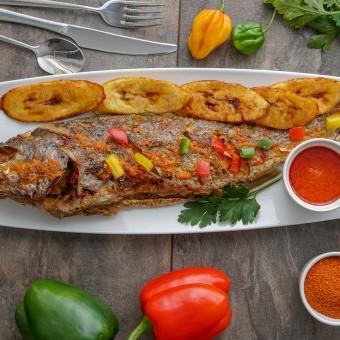 سمك مشوي بالتتبيلة الحارة للرجيم