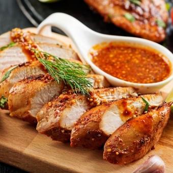 صدور دجاج بالباربيكيو صوص للرجيم