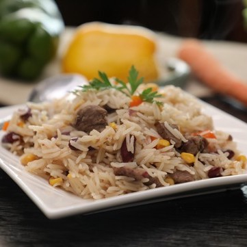 أرز باللحم على الطريقة المكسيكية بالفيديو