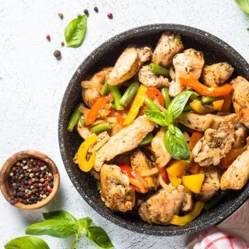 دجاج صيني بالخضار