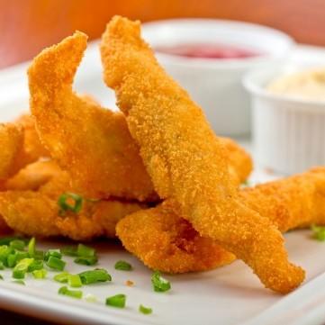 أصابع الدجاج والجبنة