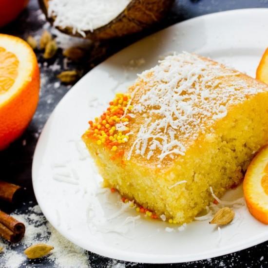 كيك البرتقال بجوز الهند