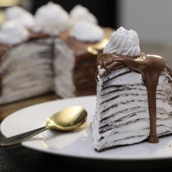 كيكة الكريب بالشوكولاتة بالفيديو