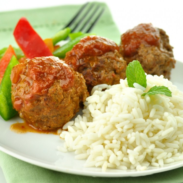 كرات اللحم المشوية مع الخضار للرجيم