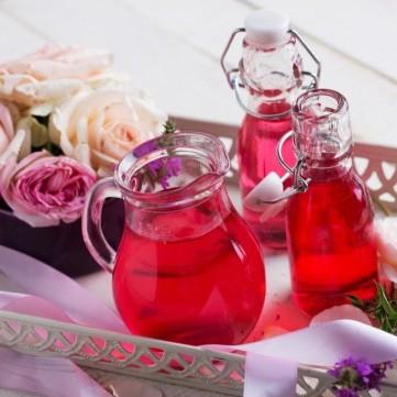 عصير الورد الطبيعي
