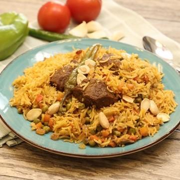 الأرز باللحم والبهارات بالفيديو