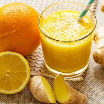 عصير البرتقال بالزنجبيل لنزلات البرد