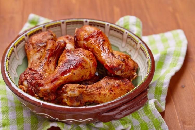 أفخاذ الدجاج الحارة