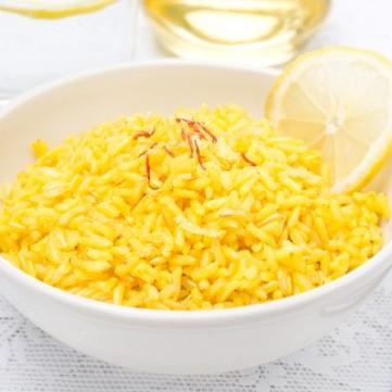 الأرز بالليمون والزعفران