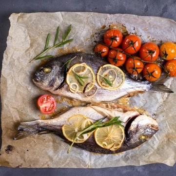 سمك مشوي بالقصدير للرجيم