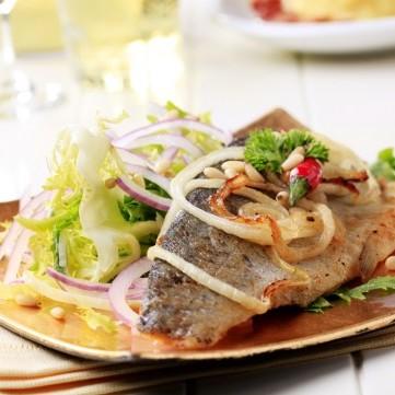 صينية سمك بالبصل