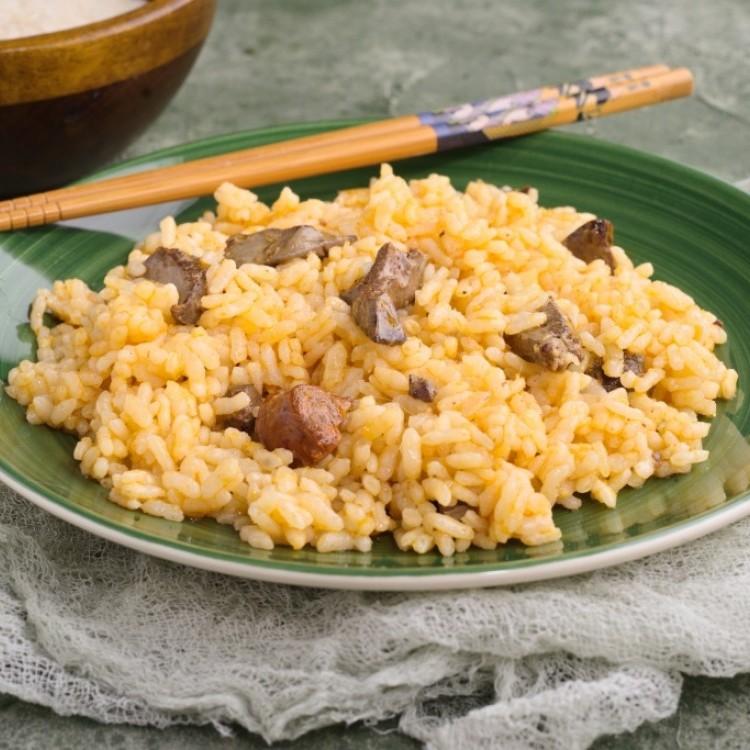 قوانص الدجاج بالأرز