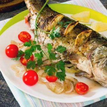 صينية السمك على الطريقة الإيطالية