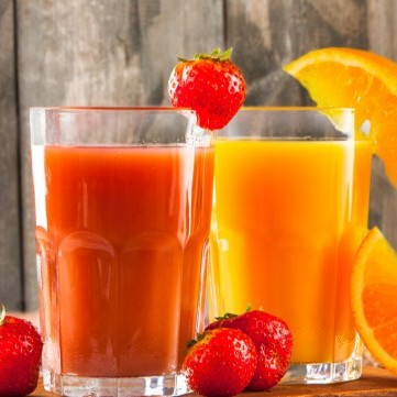 عصير الفراولة مع البرتقال