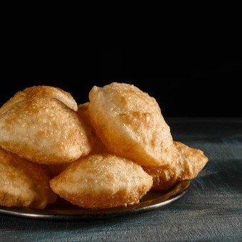 الخبز البوري المنفوخ