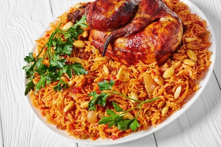 كبسة دجاج تندوري بدجاج اليوم مع الأرز