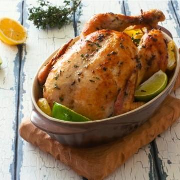 دجاج اليوم مشوي بالليمون والنعنع