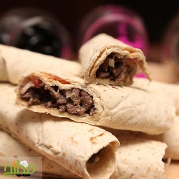 شاورما اللحم خطوة بخطوة بالصور