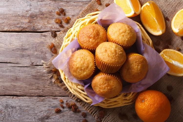 كب كيك البرتقال