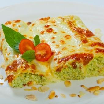 لازانيا رول بالسبانخ والجبن