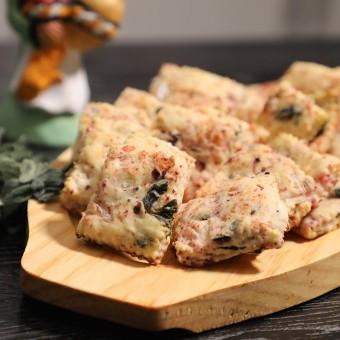 فطاير الزعتر الأخضر بالجبنة بالفيديو