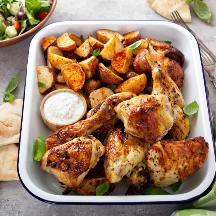 الدجاج بالزبادي في الفرن
