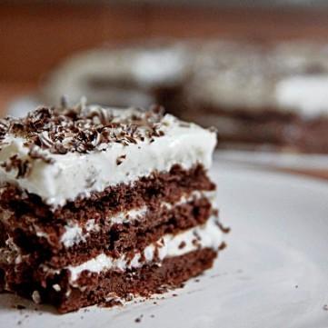كيك طبقات الشوكولاتة