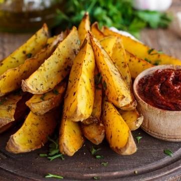بطاطس مشوية مقرمشة للرجيم