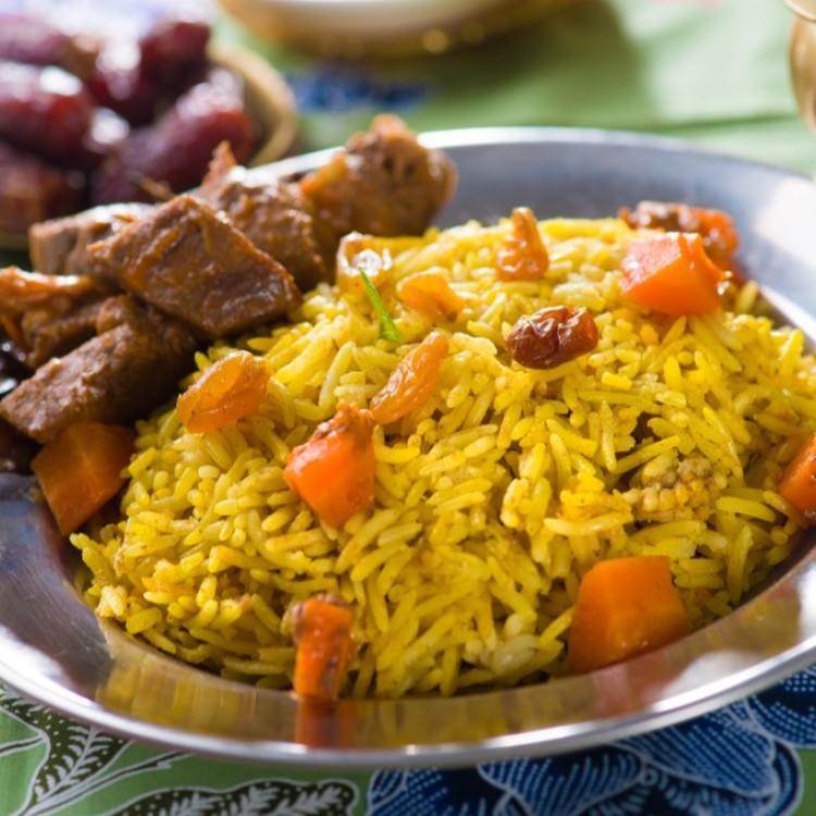 أرز باللحم والجزر