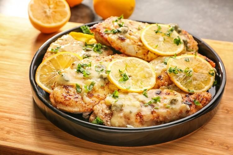 ستيك دجاج بالزعتر والليمون بالفرن