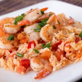 أرز بالروبيان بسعرات حرارية أقل