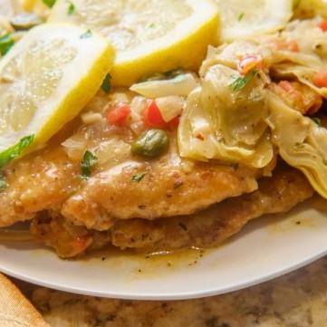 دجاج مشوي مع الأرضي شوكي للرجيم