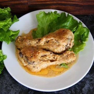 أفخاذ الدجاج بالكريمة والثوم