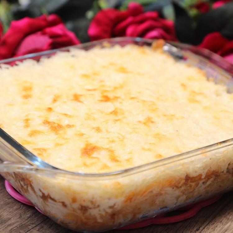 الأرز بالبشاميل بالفيديو